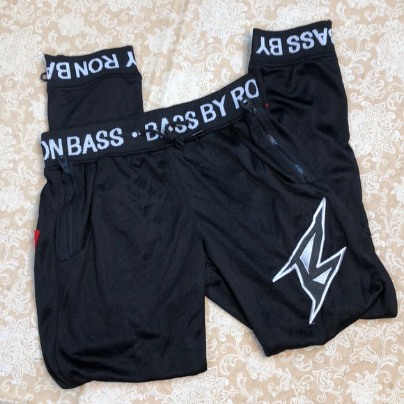 Bass by Ron Pants - Bass by Ron Black Jogger Pants